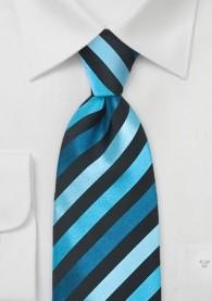 Krawatte Streifen Aqua Schwarz