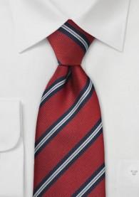 Klassische XXL-Regiments-Krawatte in Rot