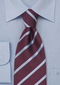 Krawatte Streifen XXL hellblau aubergine