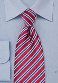 Krawatte XXL Streifendessin mittelrot
