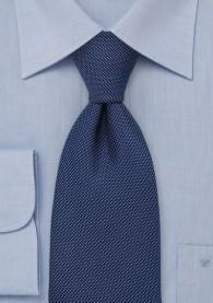 Stylische Businesskrawatte nachtblau strukturiert