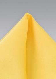 Einstecktuch kräftiges Gelb