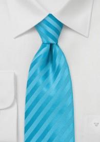 Mikrofaser-Krawatte einfarbig aqua Streifendessin