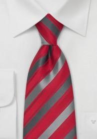 Krawatte Clip in rot und grau