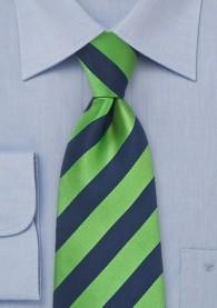 Krawatte dunkelblau grün Streifenmuster