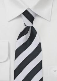 Krawatte schwarz weiß Streifenmuster