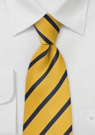 Krawatte Gelb Streifenmuster