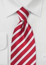 Krawatte kirschrot italienisches Streifen-Muster