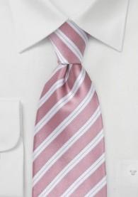 Krawatte rosa italienisches Streifen-Pattern