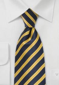 Krawatte navy gold italienisches Streifen-Muster