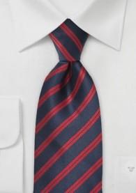 Krawatte rot dunkelblau italienisches