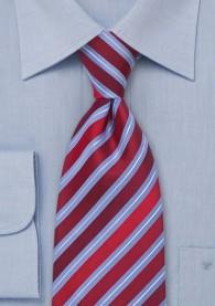 XXL-Businesskrawatte Streifendesign kirschrot