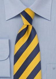 Businesskrawatte Streifen gelb navy