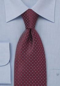 Krawatte Punkte-Muster weinrot