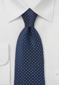 Krawatte Tupfen-Muster dunkelblau