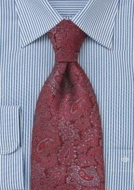 Allover-Krawatte Paisleys rot