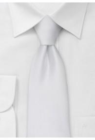 Mikrofaser Clip-Krawatte weiß