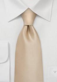 Krawatte champagner XXL unifarben