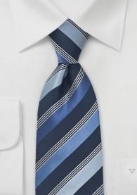 Herrenkrawatte Streifen-Dekor mattblau marineblau