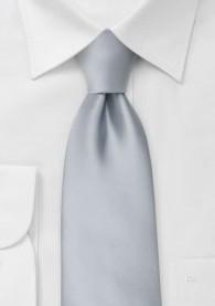 Mikrofaser Clip-Krawatte in silber