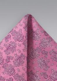 Einstecktuch Paisleys Pink