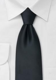 Schwarze XXL-Krawatte mit Satinglanz
