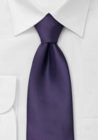 Moulins Clip-Krawatte in dunklem violett