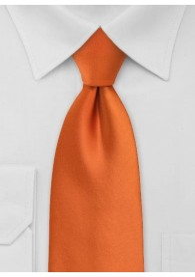 Clip-Krawatte in orange