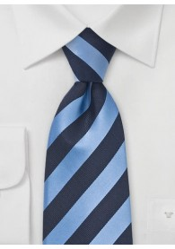 Krawatte Streifen Clip navy hellblau