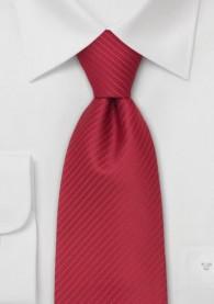 Mikrofaserkrawatte XXL rot mit feinen Streifen