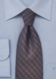 XXL-Krawatte Karo kupfer navy