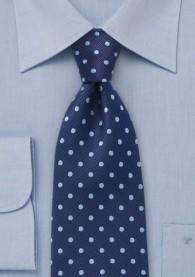 Krawatte Punkte navyblau