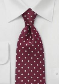 Krawatte Punkte weinrot