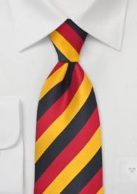 Clip-Herrenkrawatte Schwarz-Rot-Gold