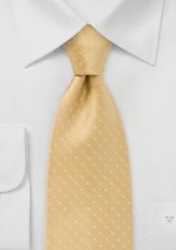 Punkte-Krawatte goldgelb