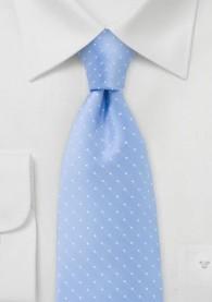 Pünktchen-Herrenkrawatte blassblau