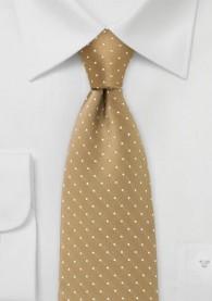 Pünktchen-Krawatte sandfarben