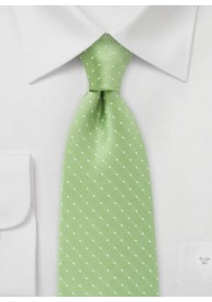 Tupfen-Herrenkrawatte grasgrün