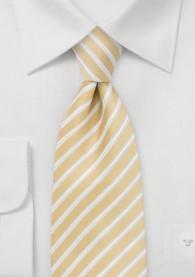 Krawatte Streifenmuster hellgelb
