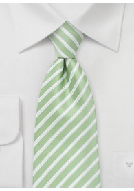 Krawatte Streifen grasgrün