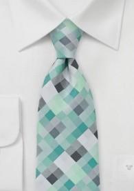 Krawatte Viereck-Muster mint