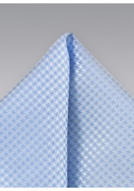 Einstecktuch Struktur-Dekor himmelblau