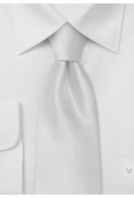 XXL-Herrenkrawatte weiß einfarbig