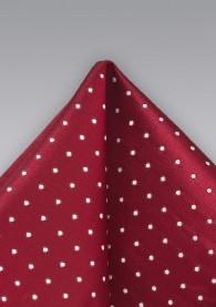 Einstecktuch Punkte Rot Weiß