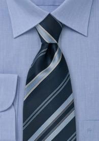 Elegante Clipkrawatte Streifen blau