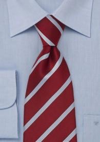 Krawatte Clip Streifen hellblau kirschrot