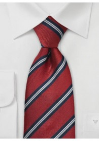 Klassische Clip-Regiments-Krawatte in Rot