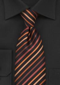 Krawatte XXL Streifenmuster dark black orange