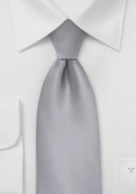 Clip-Businesskrawatte unifarben silber