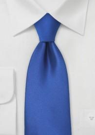 Krawatte königsblau einfarbig Clip